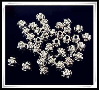 100Pcs Tibetan Silver loose Spacer Beads Crafts Jewelery Finding 3.5mm