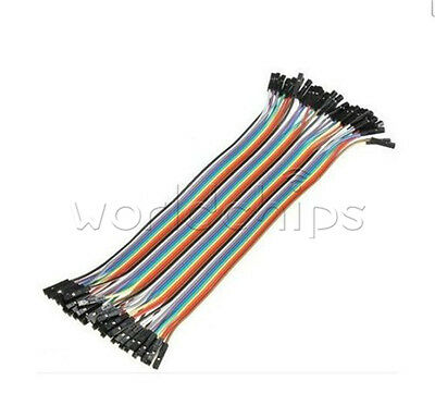 40PCS Dupont wire 20cm Cables Line Jumper 1p-1p pin Connector Female to Female