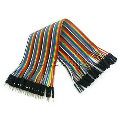 40PCS Dupont Wire Color Jumper Cable 2.54mm 1P-1P Male to Female 20cm WC