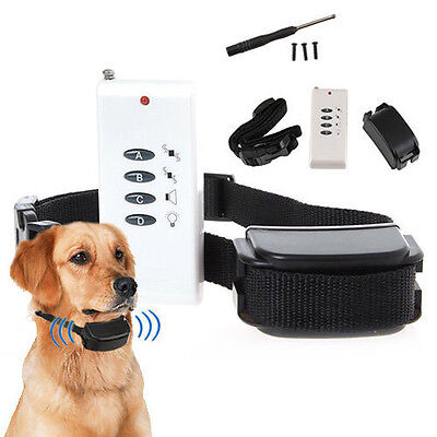 Electronic Remote Training Pet Dog Collar Anti-Bark Stop Barking Trainer