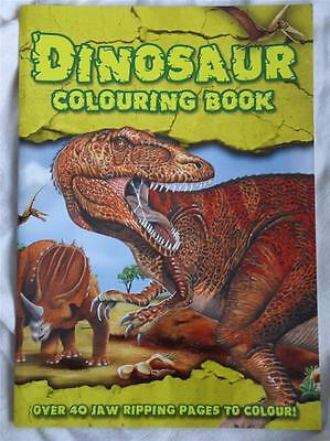 Large A4 Size Dinosaur Colouring Book - Brand New