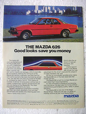1980 Mazda 626 Hardtop Australian Magazine Fullpage Colour Advertisement