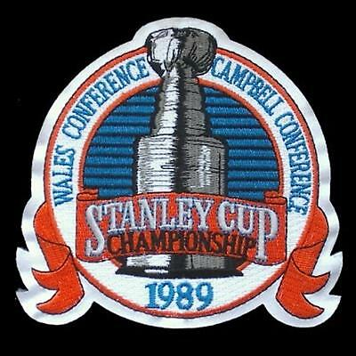 NHL 1989 Stanley Cup Finals Jersey Patch Calgary Flames Vs. Montreal Canadiens