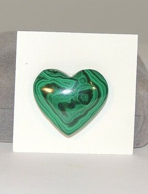 Malachite Heart 22x25mm from Africa top drilled (7404)