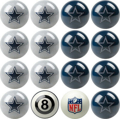 NFL Pool ball set - Dallas Cowboys - Home and Away!! FREE US SHIPPING