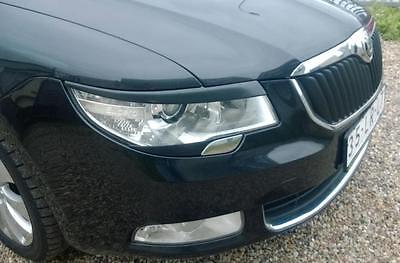 Skoda SUPERB B eyebrows genuine ABS plastic 2008-2013 headlights spoiler eyelids