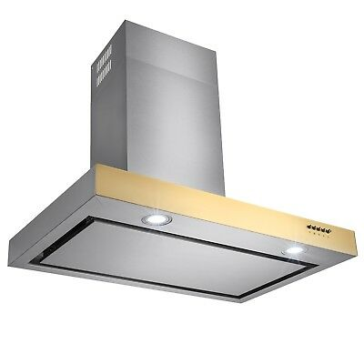"30"" Euro Style Stainless Steel Kitchen Wall Mount Range Hood Slide Touch Control"
