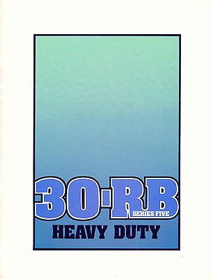 30-RB series five heavy duty sales booklet