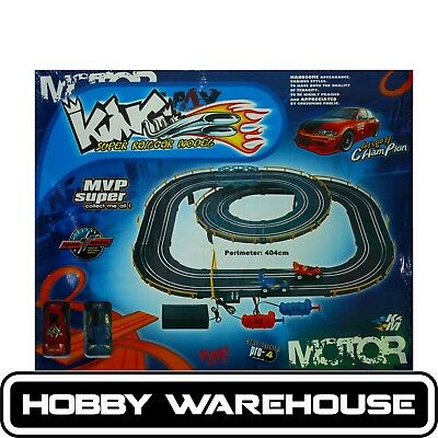 NEW Cheap Slot Car Set King Super Railcar Model 4m of Track and Two Cars