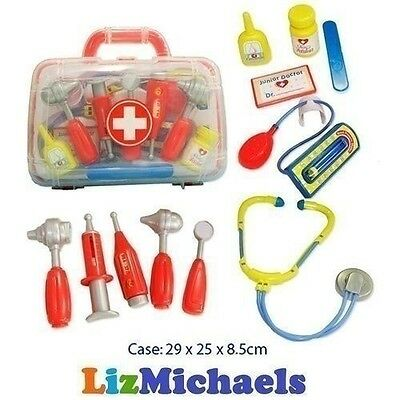 Childrens Pretend Medical Carry Case Kit Doctor Nurse Medic Play Set Toy