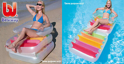 New Bestway Inflatable Folding Lounge Chair Swimming Pool Lilo Float Sun Lounger