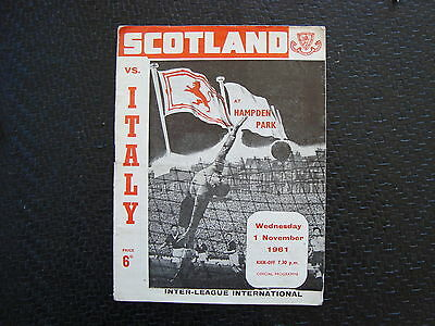 Scotand v Italy 1961 Inter League International
