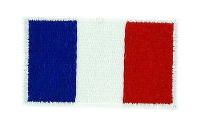 Lot de 5/10/25/50..Patch écusson brodé Drapeau FRANCE Français Thermocollant 2x3