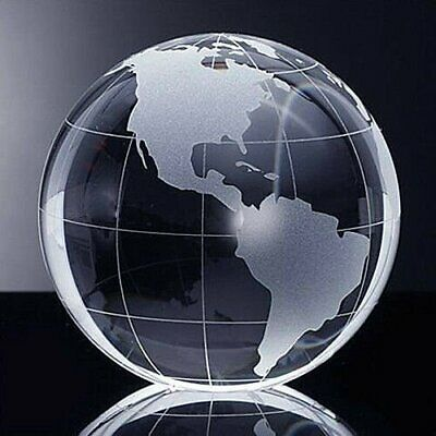 """High Quality Crystal Globe Paperweight 2.3"""" with Gift Box"""