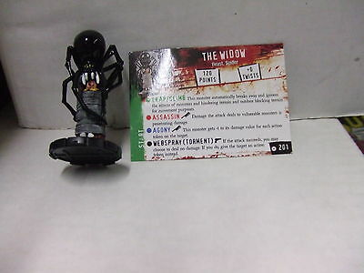 HORRORCLIX HEROCLIX THE WIDOW GIANT SPIDER (x2) LMTD PROMO LE #201 W/CARD SEALED