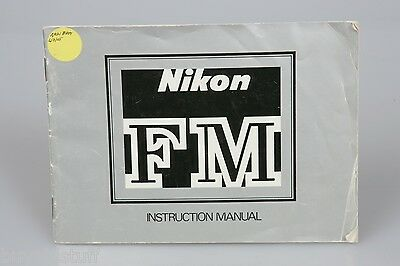 Original Nikon FM Camera Instruction Manual