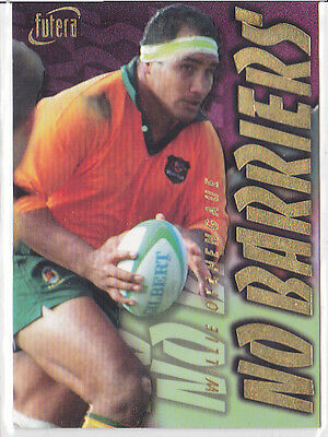 Willie Ofahengaue - Wallabies - No Barriers Nb5 - 1996 Futera Rugby Card