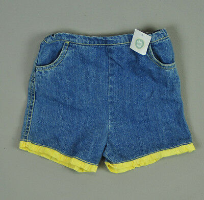 Baby girl 24M 2T Jean new with tags yellow ruffle summer shorts