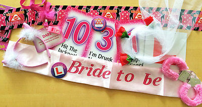 Assorted Retro PINK HEN DO Girls Night Out Pink Party Fun Novelty Games Gift