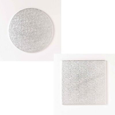 Square & Round Foil Cake Board Board Base Bases Drum Drums Cards
