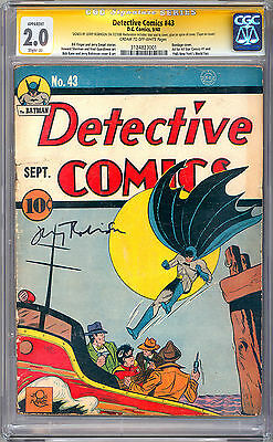 Detective Comics #43 Cgc-Ss 2.0 Certified Private Collection Jerry Robinson 1940