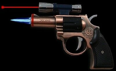 Revolver Torch Lighter With Scope Laser Pointer-Assorted Color-1pc free shipping