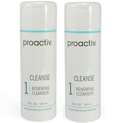 Proactiv Renewing Cleanser 2 x 120ml Step 1 acne proactive 240 solution 8/18 exp