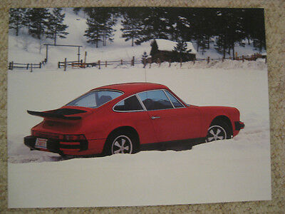 1975 Porsche 911S Coupe Advertising Poster RARE!! Awesome L@@K