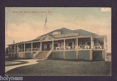 Antique Postcard / Union Club House / Santurce Puerto Rico / Paris Bazaar