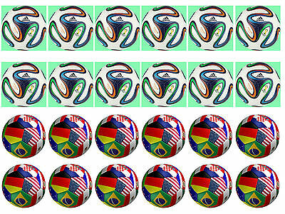 Soccer Ball  Cupcake Edible Icing Party Cake Topper Decoration Image Custom