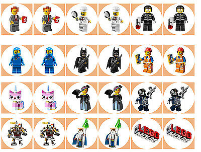 Lego Movie Cupcake Edible Icing Party Cake Topper Decoration Image Custom • AUD 15.00