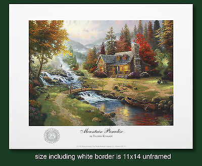 "Thomas Kinkade Original 25th Year Anniversary Print ""Mountain Paradise"""