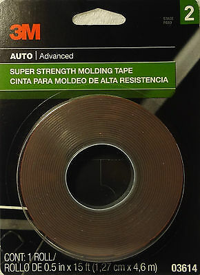 "3M 1/2"" New Super Strength Molding Tape Body Repair Double Side Adhessive 03614"