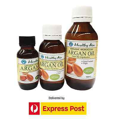 Moroccan ARGAN OIL - Certified Organic - 100% Pure Virgin Cold Pressed Hair Skin
