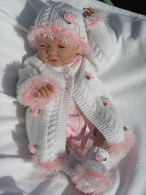 "Baby Bobbles/Lil Princess * 2 PAPER KNITTING PATTERNS * 20"" Reborn/Newborn Baby"