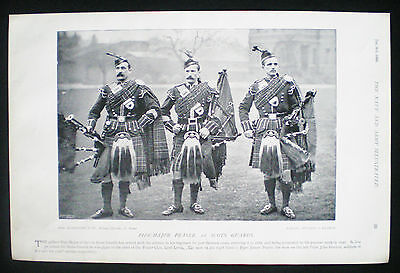 PIPE-MAJOR FRASER JAMES POURIE JOHN GORDON 1st SCOTS GUARDS VICTORIAN PAGE 1896