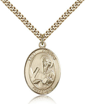 """Saint Andrew The Apostle Medal For Men - Gold Filled Necklace On 24"""" Chain - ..."""