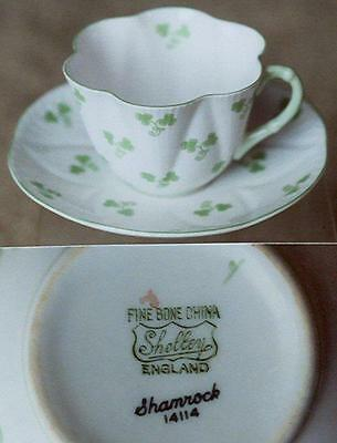 Shelley China England~Shamrock cup & saucer set~Iconic Dainty shape