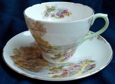 Shelley China England~Heather cup & saucer set~Scenic countryside~Cambridge shp