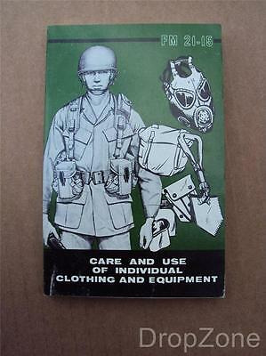 1970's US Army Military Care & Use of Clothing & Equipment Field Book
