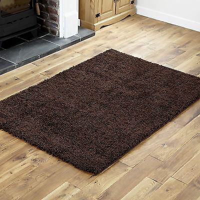 QUALITY CHOCOLATE BROWN RUG - THICK 5cm HIGH PILE SOFT 120 x 170cm SHAGGY RUGS