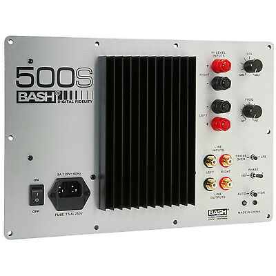 Bash 500S 500W Digital Subwoofer Amplifier