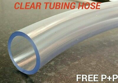4mm- 10 METRE CLEAR PLASTIC PVC HOSE PIPE TUBE FISH POND CAR AQUARIUM AIR