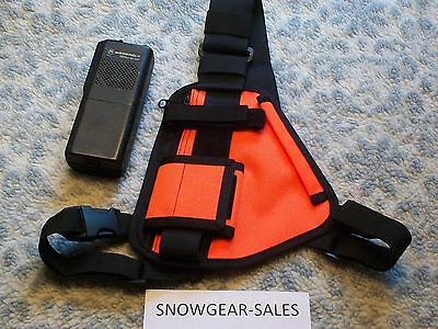 Hands Free Radio Chest Harness for Pro & UHF Radios HI VIS ORANGE 101-OR