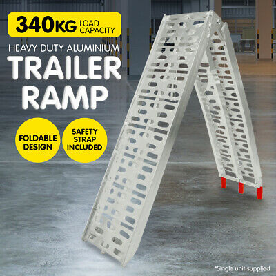 Aluminium Folding Loading Ramp Atv Motorbike Motorcycle Golf Buggy Trailer