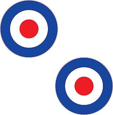 "RAF Roundel 2x 4"" Stickers Mod The Who Lambretta Vespa Scooter Bike Vinyl Decals"
