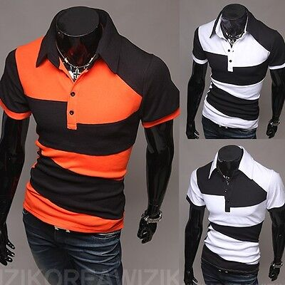 New Fashion Men's Slim Fit Casual Polo Short Sleeve Shirt T-Shirt Tops & Tees