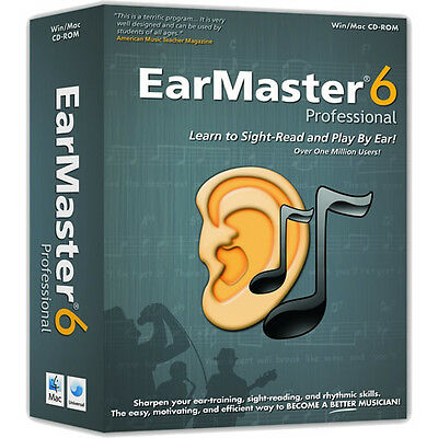 EarMaster Pro 6 for MacOS/ WIN (Download) sight-singing, ear training & rhythm