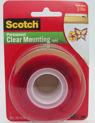 Scotch 3M Clear Heavy Duty Mounting Tape 25mmx1.5M 4010-  70005088482^
