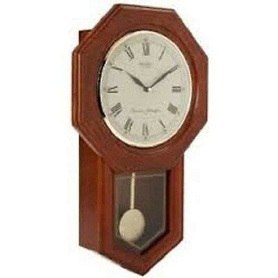 Daniel Dakota Quartz Wall Clock With Oak Case Pendulum